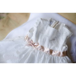 Lovely Christening/Special Occasion Ivory Handmade Dress Style DREAM NIXIE