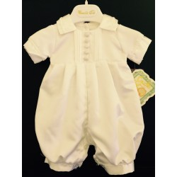 Couche Tot Baby Boys Ivory Christening Romper Style 14066