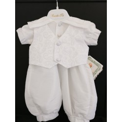 Couche Tot Baby Boys White Christening Romper Style CHR-200
