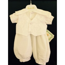 Couche Tot Baby Boys Ivory Christening Romper Style CHR200