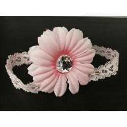 Pink Handmade Flower Baby Girl Christening/special Occasion Headband 211