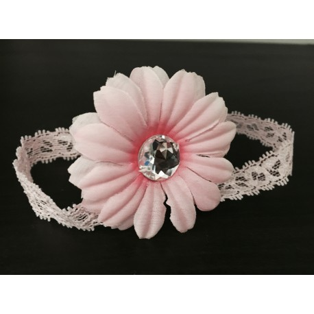 White or Pink Flower Baby Girl Christening/special Occasion Headband 211