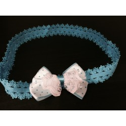 Beautiful Blue Baby Girl Special Occasion/Casual Headband op108