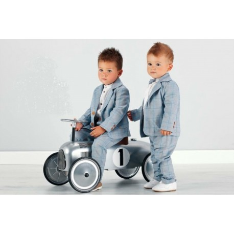 Blue Special Ocassion /Christening Checkered Suit style LA001