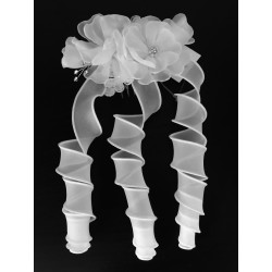 First Holy Communion White Hair Comb Style 5258