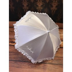 First Holy Communion Satin & Diamonds Frilled Parasol Style 674