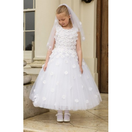 Lovely and Girly Flora Communion Dress style Bethany