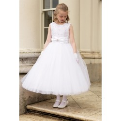 Richly Decorated Top Communion Dress style Anastasia