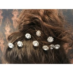 Designer Silver Crystal Hair Pins style PIN002