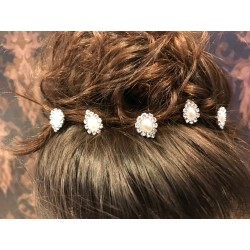 Lovely Silver Pearls Hair Pin style PIN001