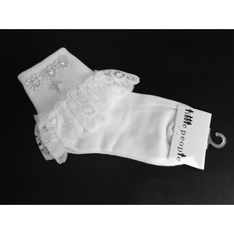 White First Communion Socks With Cross Style 5302X