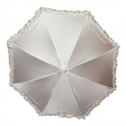 White Satin First Holy Communion Parasol With Diamonds Style 678