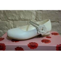 Rochelle White Communion/ Flower Girl Shoes Style R032