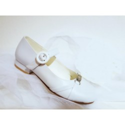 Rochelle White First Holy Communion Shoes Style R044