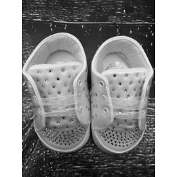 Couche Tot White Christening/Special Occasions Diamonds Shoes Style 314119
