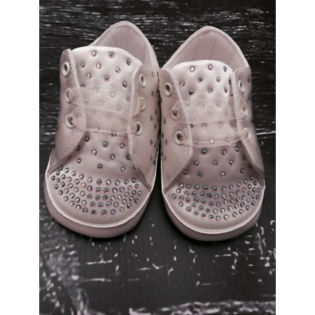 Couche Tot Ivory Christening/Special Occasions Diamonds Schoes Style 314119