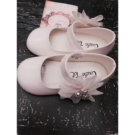 Couche Tot Girls Ivory Flower Girl/Special Occasions Shoes PORSCIA