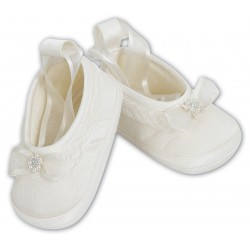 Gorgeous Ivory Baby Girl Shoes from Sarah Louise 4408
