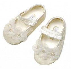 Cute Ivory Christening/Special Occasion Shoes from Sarah Louise 4401