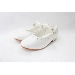 Girls Special Occasion /Communion Satin White Shoes Visara
