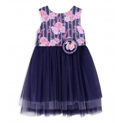 Dark Blue Flower Girls / Special Occasions Dress Style 4901