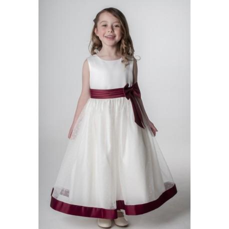 Wine Colored Flower Girl Dresses