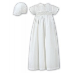 Sarah Louise Lovely Baby Boy Ivory Christening Gown with Bonnet style 001178s