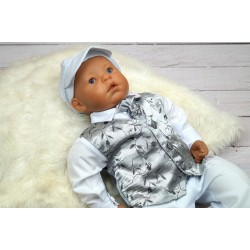 Baby Boy Christening/Special Occasion Outfit style Kajetan White