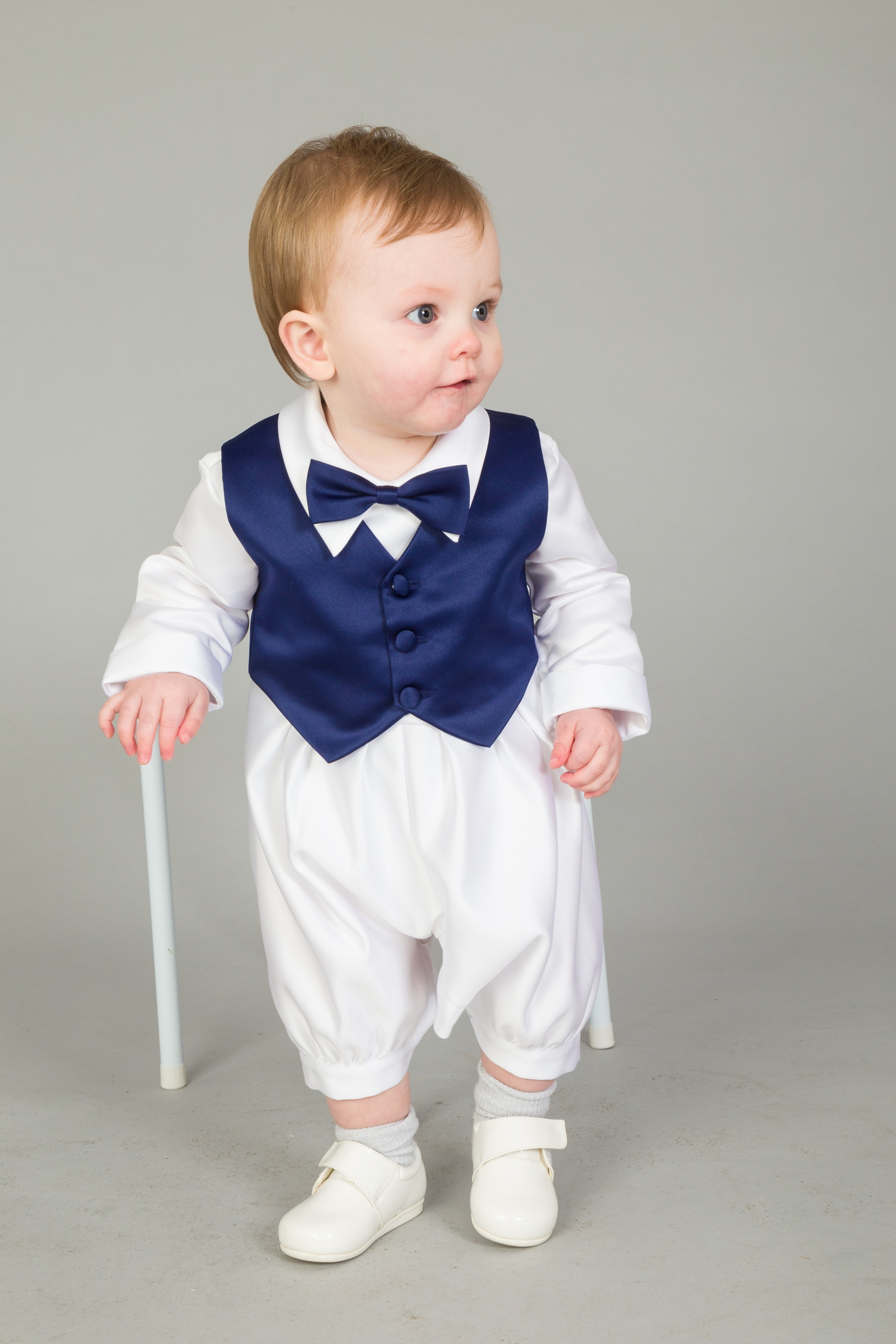 Baby Boys 3 Piece Formal Suit Dicky Bow 3 6 12 18 months Christening wedding