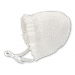 Sarah Louise Ivory Baby Girl Christening Bonnet Style 003602P