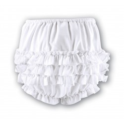 Lovely Frilled White Christening / Special Occasions Panties Style 003760P