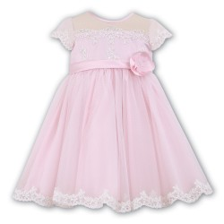 Sarah Louise Pink Flower Girl / Special Occasions Ballerina Length Dress Style 070007