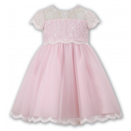 Sarah Louise Pink Flower Girl / Special Occasions Ballerina Length Dress Style 070060