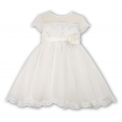 Sarah Louise Ivory Christening/ Flower Girl / Special Occasions Ballerina Length Dress Style 070007-2