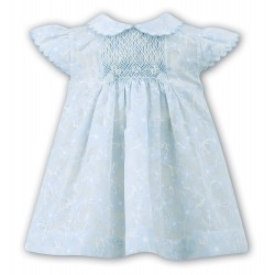 Sarah Louise Special Occasion Ivory & Blue Flower Dress Style 010741