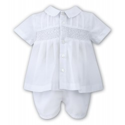 Sarah Louise Christening 2 Piece Set in White Style 010696