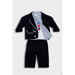 Navy Black Toddler Special Occasion Outfit style 10544