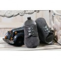 Baby Boys Graphite Suede Christening/Wedding/Pram/ Formal Party Shoes Style 4143/190