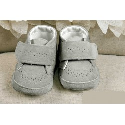 Baby Boys Gray Suede Christening/Wedding/Pram/ Formal Party Shoes Style 4914/256