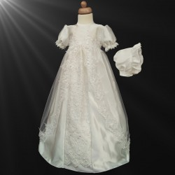 Ivory Christening Baby Girl Gown style CR207