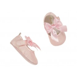 Lovely Christening/Special Occasion Baby Girl Pink Shoes Style MARY JANE CRYSTAL
