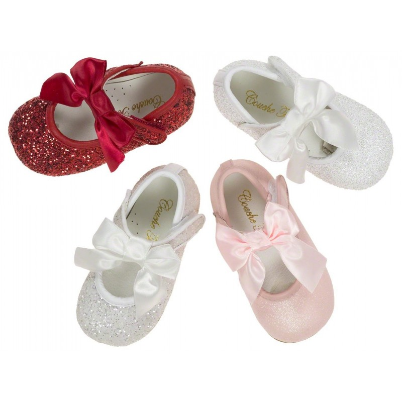 pink glitter leather special occasion shoes