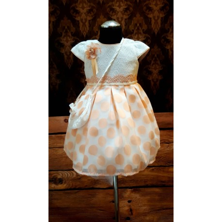 Lovely Special Occasion White and Peach style 0596