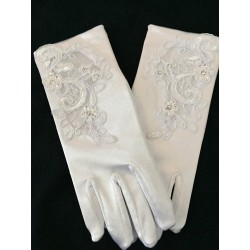 Shining Satin Communion Gloves style 777