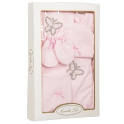 Lovely Pink 6 pcs Set for Baby Girl in Gift Box style CT4042