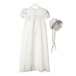 Ivory Cross Christening Baptism Unisex Robe Style 101