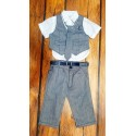 Elegant Boys Summer 5 psc Outfit style cx1052 gray