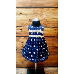 Lovely Navy/White Baby Girl Special Occasion Dress Style 622