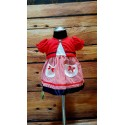 Cute 2 pcs Summer Outfit for Little Girl style 63JTC885red